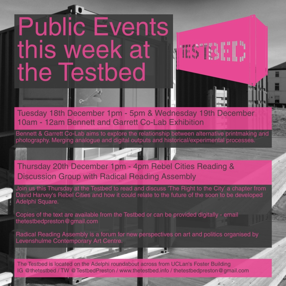Public Events this week at #thetestbed…